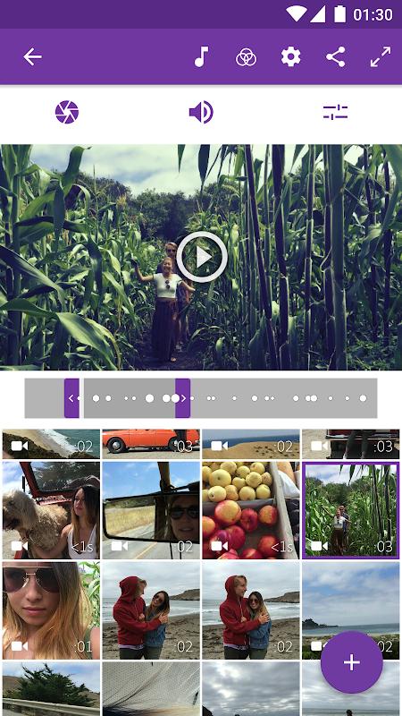 Screenshot Adobe Premiere Clip APK
