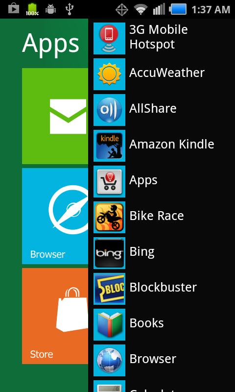 Screenshot Windows 8 for Android APK
