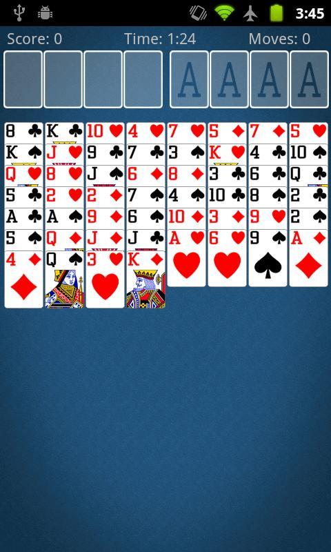 Screenshot FreeCell Solitaire APK