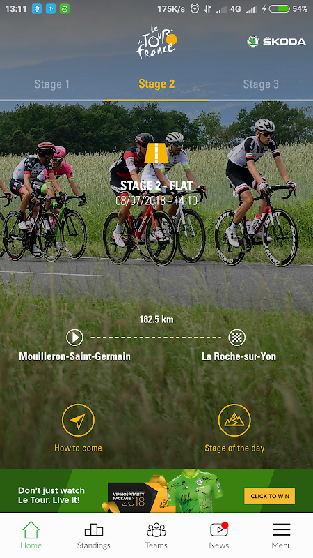 TDF 2018, presented by ŠKODA The App Store android Code Lads