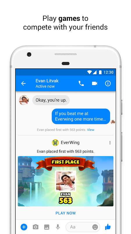 Screenshot Messenger – Text and Video Chat for Free APK