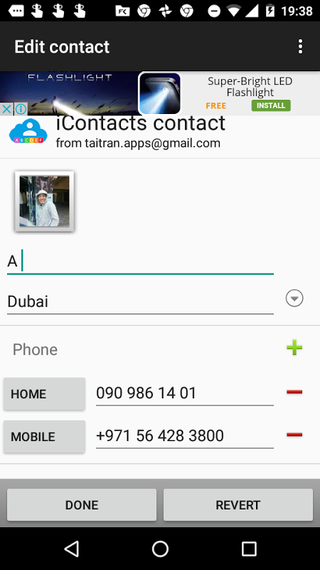 Screenshot iContacts for Android APK