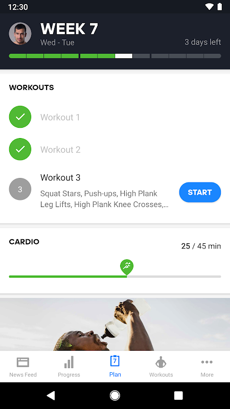 Results - Strength Training & Bodyweight Workout The App Store android Code Lads