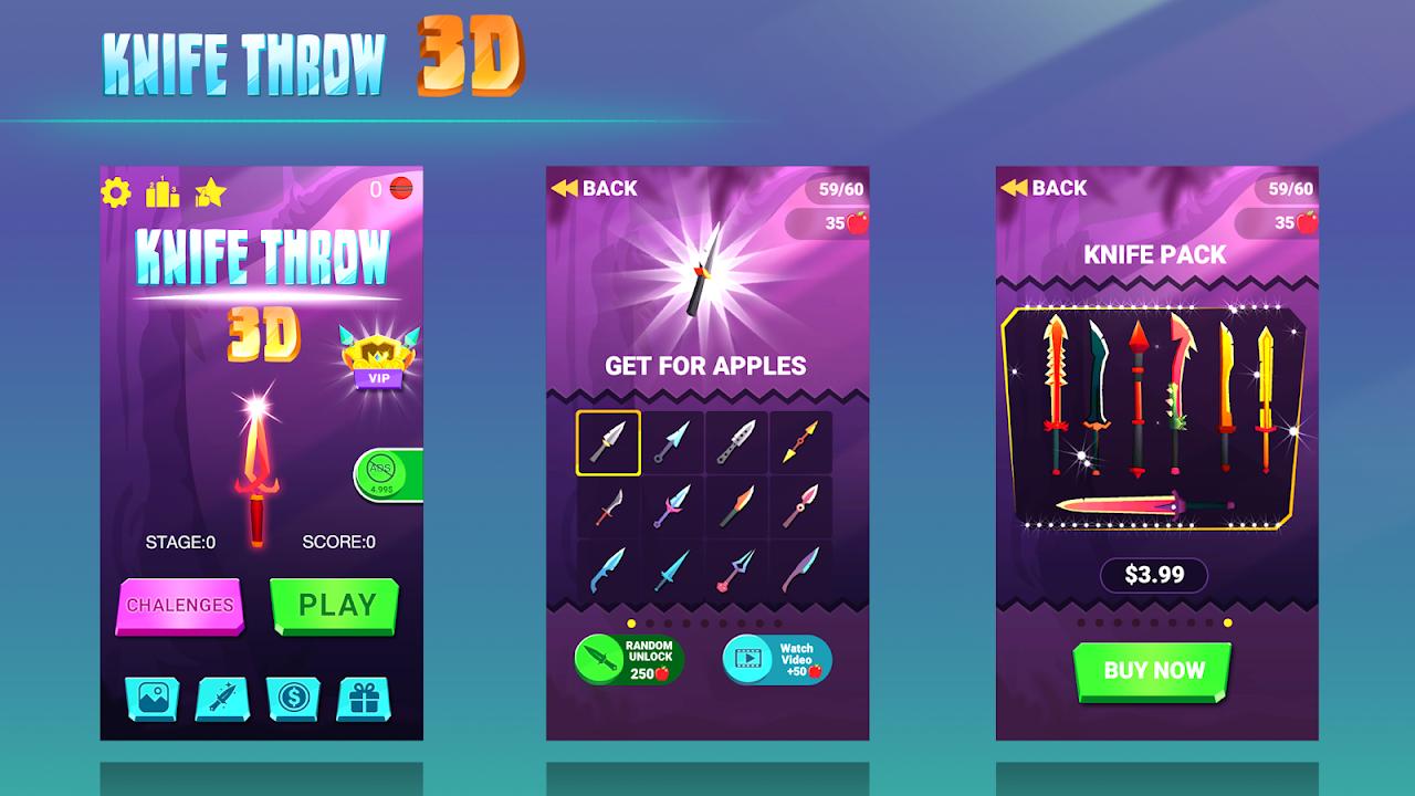 Screenshot Knife Throw 3D APK