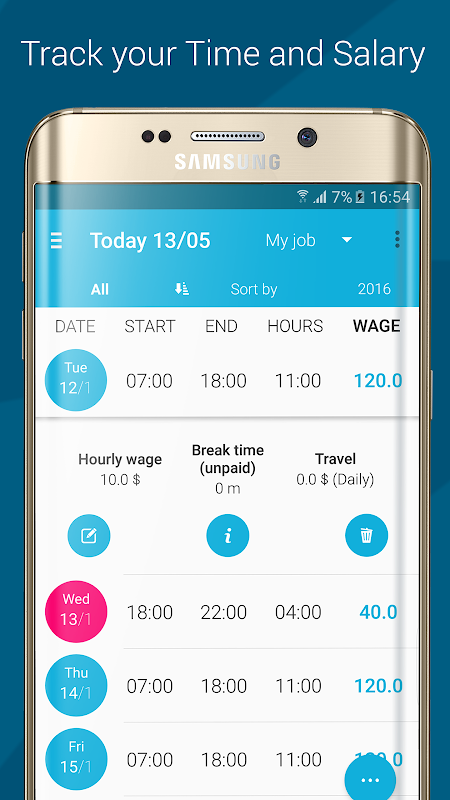 Screenshot Work Log APK