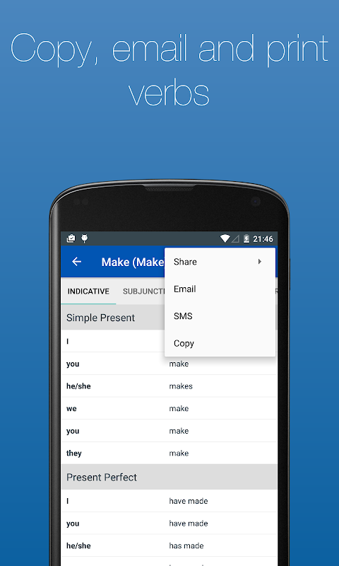 Screenshot English Verb Conjugator Pro APK