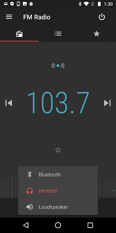 Screenshot Motorola FM Radio APK
