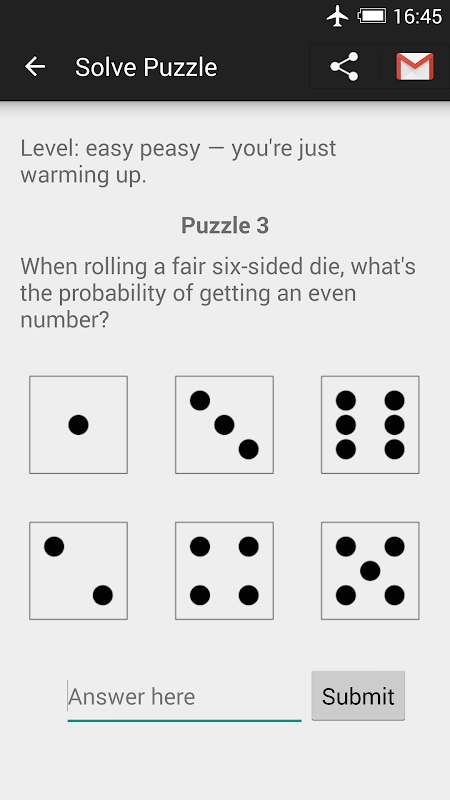 Screenshot Probability Puzzles APK