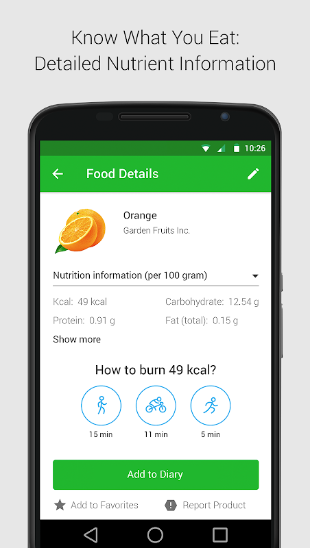 Calorie, Carb & Fat Counter The App Store android Code Lads