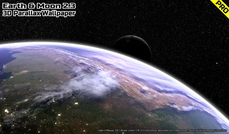 Earth & Moon in HD Gyro 3D PRO Parallax Wallpaper The App Store