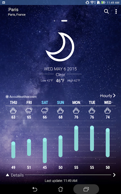 Screenshot ASUS Weather APK