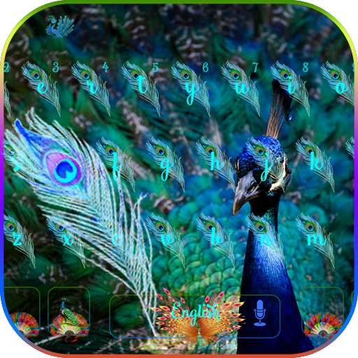 Blue peacock Keyboard Theme
