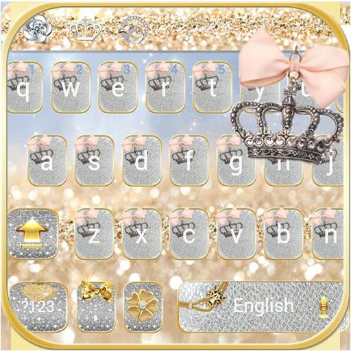 Silver gold Keyboard theme