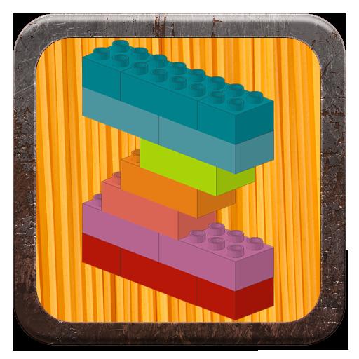 Alphabet with building bricks