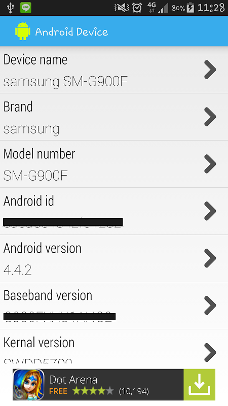 Screenshot Android Device APK