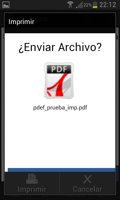 Screenshot Impresora Android APK