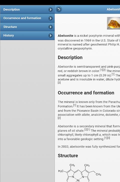 Screenshot Minerals APK