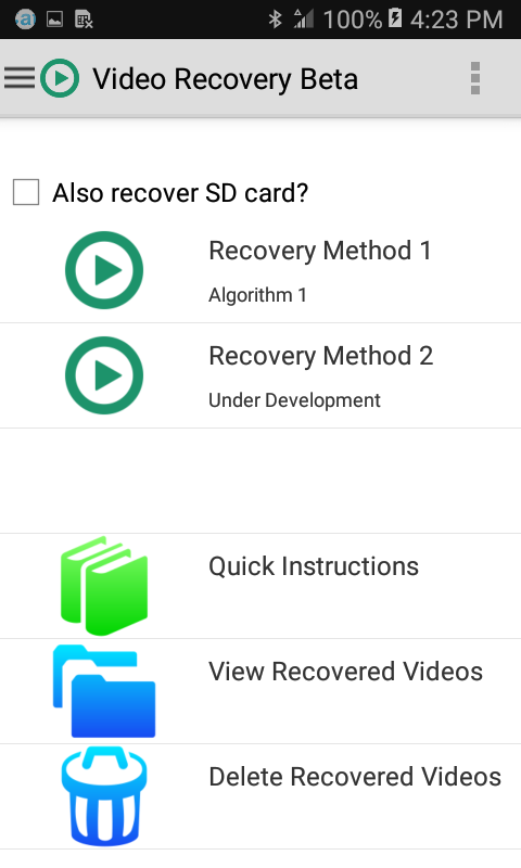 Screenshot Video Recovery APK