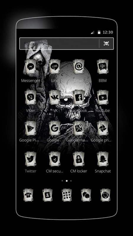 Ace Black Cool Skull The App Store android Code Lads