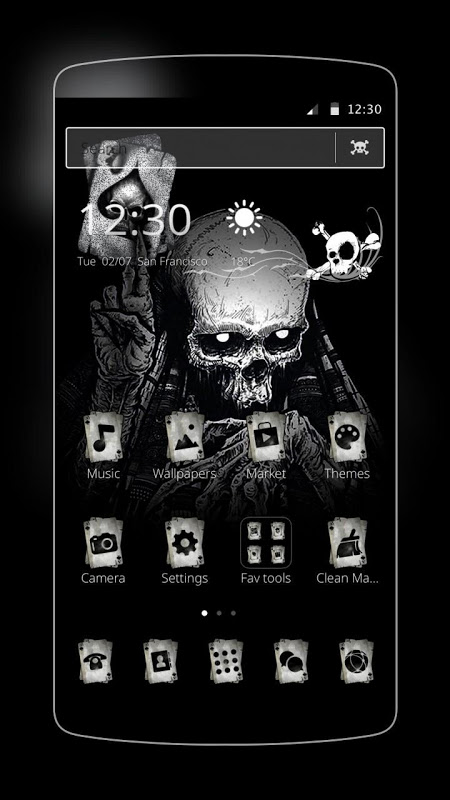 Ace Black Cool Skull The App Store