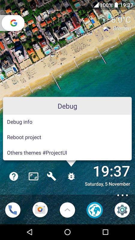 Screenshot #ProjectUI - Android Nougat APK