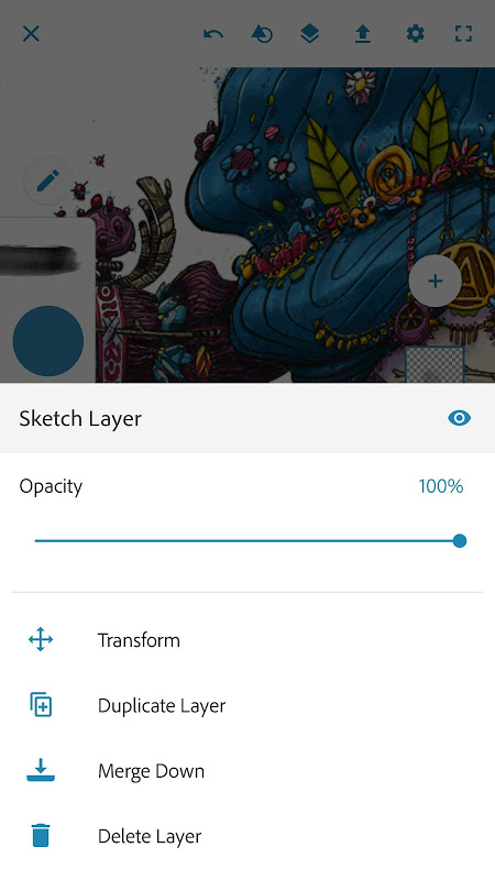 Screenshot Adobe Photoshop Sketch APK