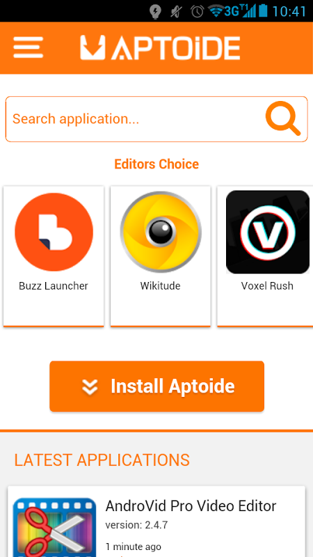 Screenshot Top apps for Android APK