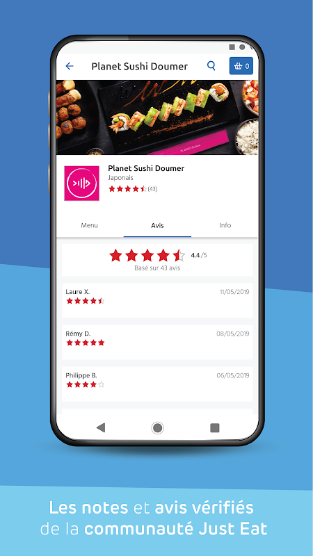 Just Eat: livraison de restaurants The App Store android Code Lads