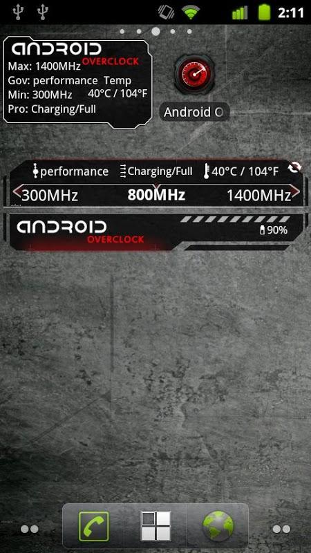 Screenshot Android Overclock APK