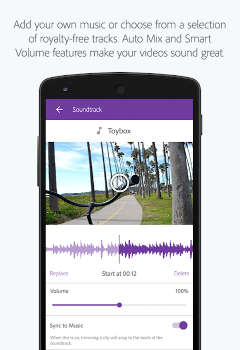 Screenshot Adobe Premiere Clip APK