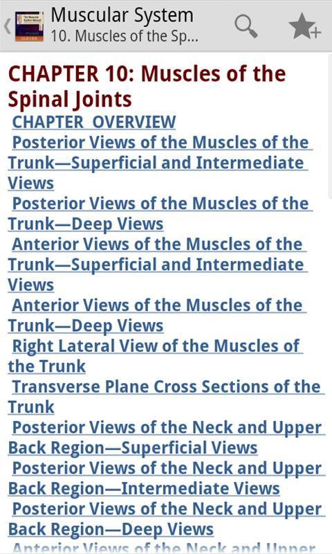Screenshot Muscular System Manual APK