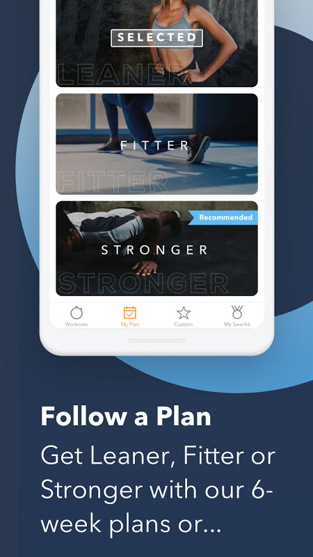 Sworkit: Workouts & Fitness Plans The App Store android Code Lads