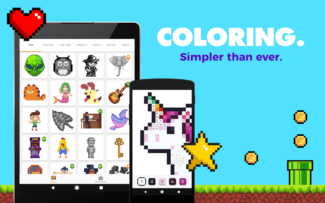 UNICORN: Colour by Numbers Pixel Art Game The App Store