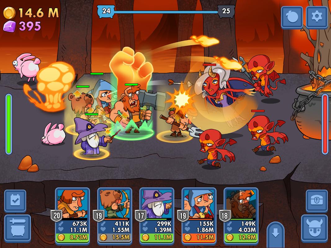 Screenshot Semi Heroes: Idle Battle RPG APK