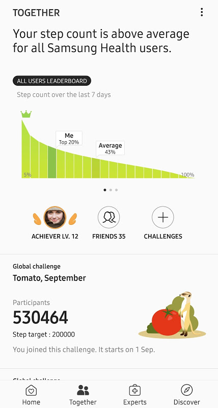 Screenshot Samsung Health APK