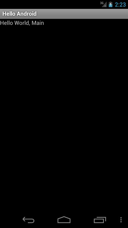 Screenshot Hello Android APK