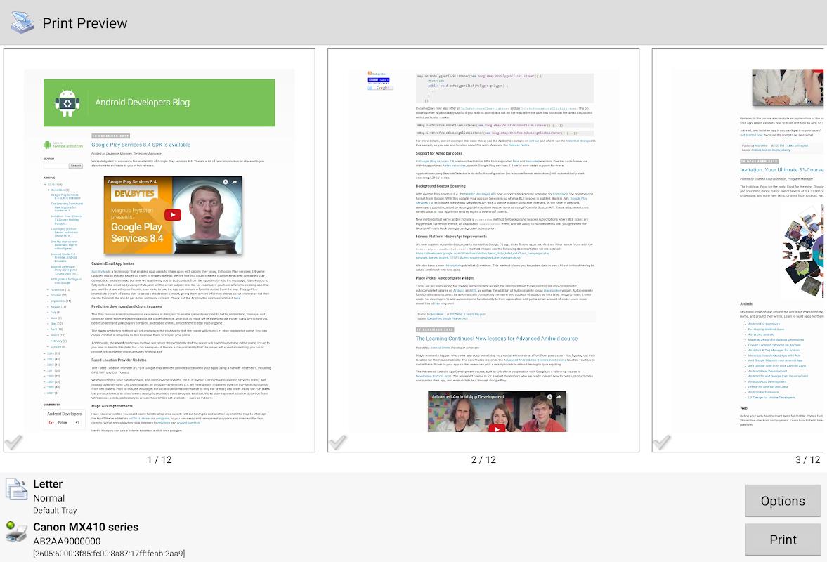 Screenshot Mobile Print - PrinterShare APK