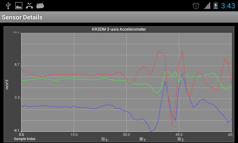 Screenshot Android Sensors APK