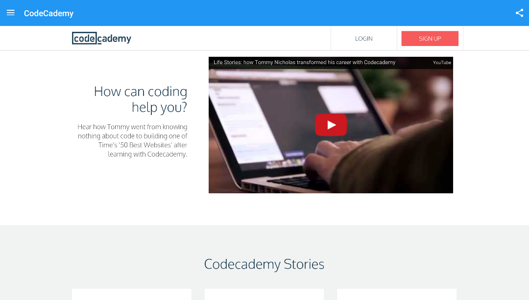 Screenshot Codecademy APK
