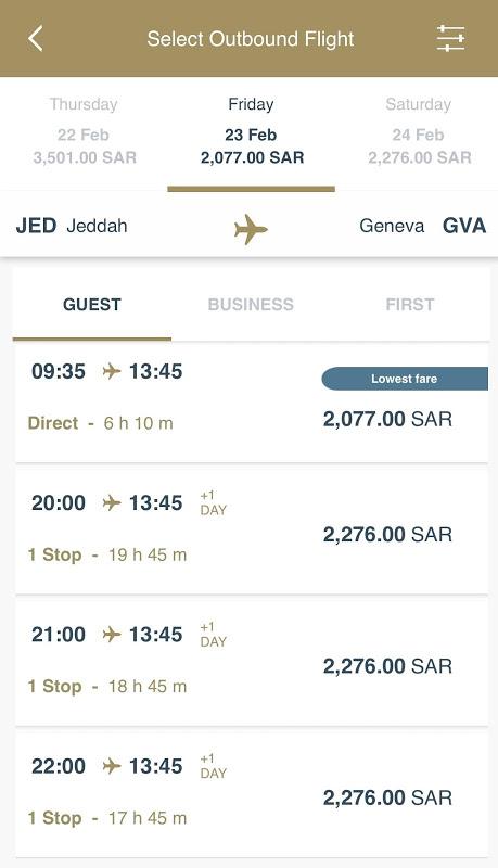 Screenshot SAUDIA APK