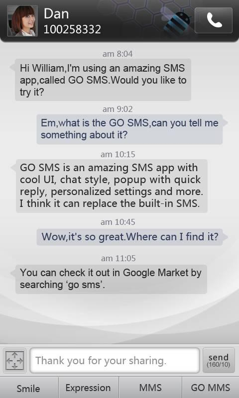 GO SMS Pro simple dark theme The App Store