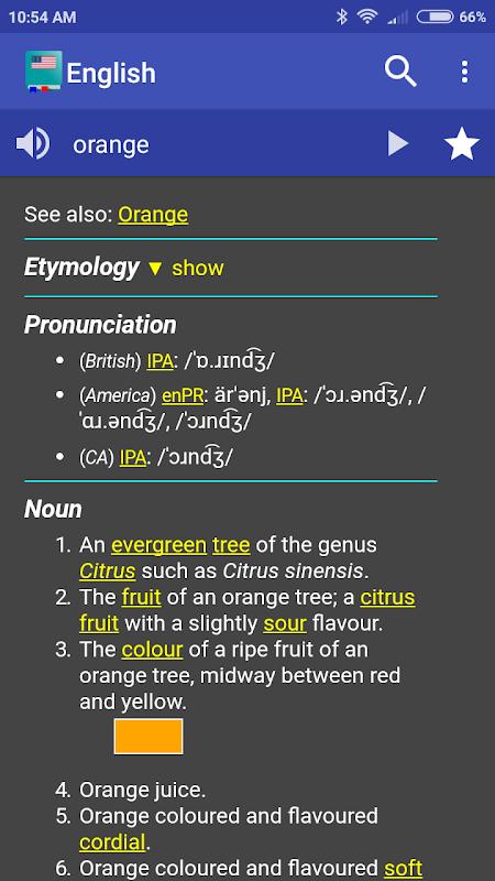 Screenshot English Dictionary - Offline APK