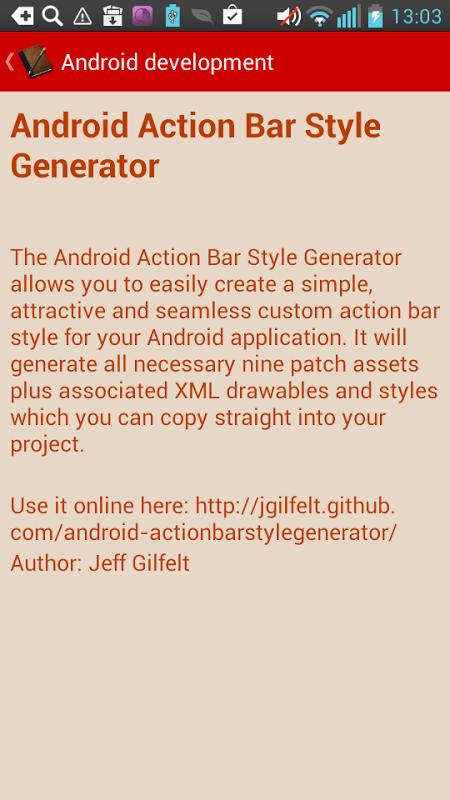 Screenshot Android Development APK
