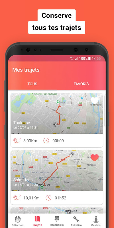 Screenshot Liberty Rider : Détection d'accident et GPS Moto APK