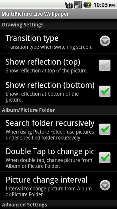 Screenshot MultiPicture Live Wallpaper dn APK