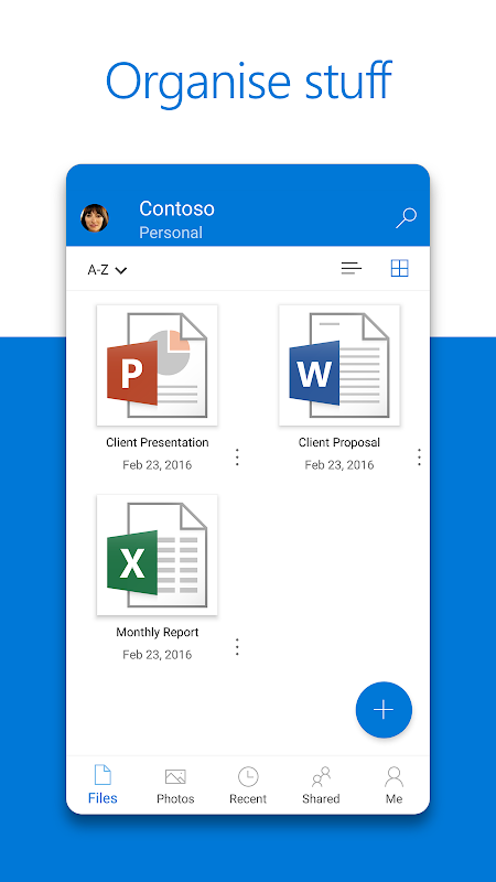 Screenshot Microsoft OneDrive APK
