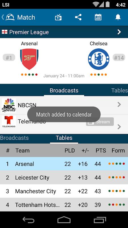 LiveFootballTV - Scores, Stats & TV Streaming Info The App Store