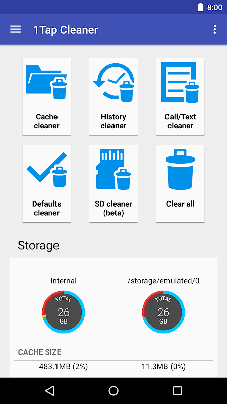 1Tap Cleaner Pro (clear cache, history log) The App Store
