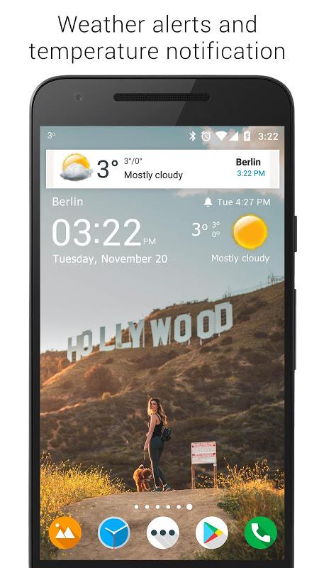 Screenshot Transparent clock weather (Ad-free) APK