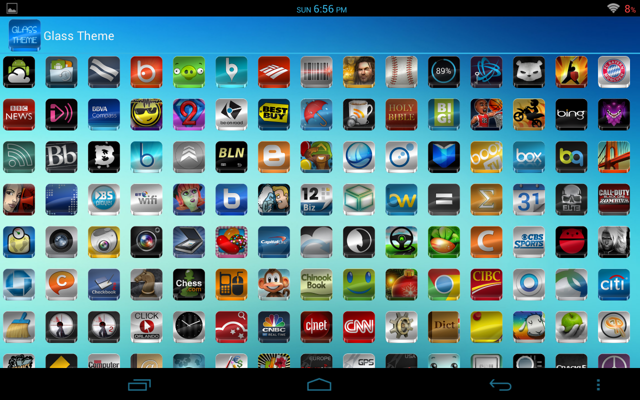 GLASS APEXNOVAGOSMART THEME The App Store android Code Lads
